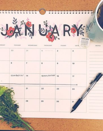 De meest populaire verjaardagkalender