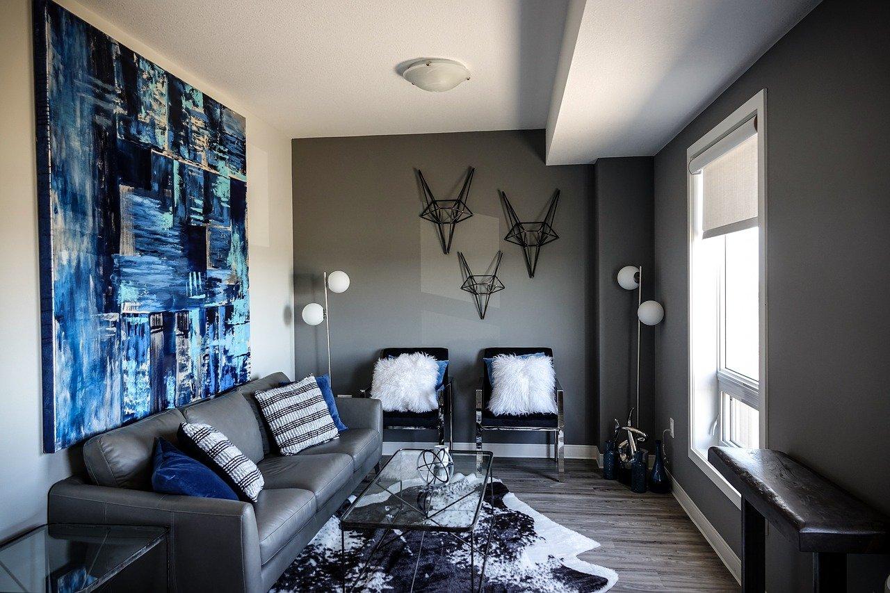 Kunst woonkamer